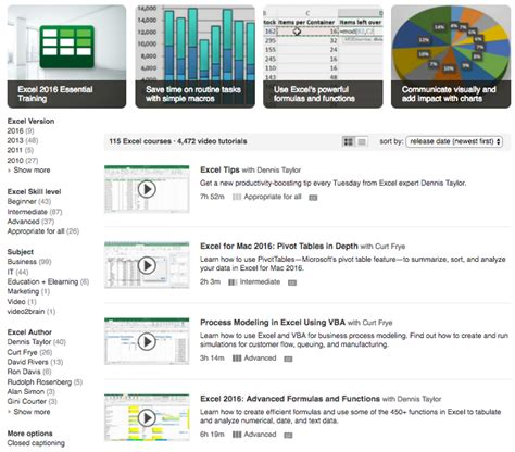 excel tutorial lynda how to learn excel the 10 best resources on the internet