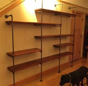 black pipe shelves black iron pipe shelves transitional living room