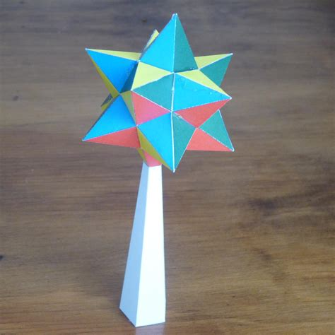 Paper Small Stellated Dodecahedron - paper small stellated dodecahedron