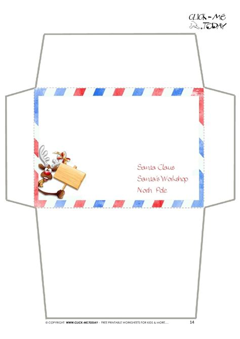 printable envelope borders craft envelope letter to santa claus border reindeer 14