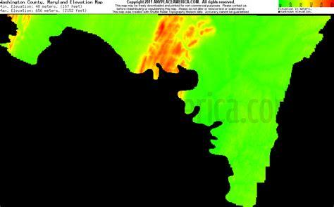 maryland map elevation free washington county maryland topo maps elevations