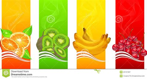 design banner juice banners with fruits royalty free stock photography image