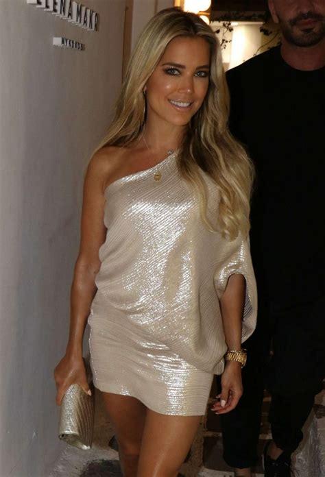 Sylvie Dress sylvie meis in silverish dress out in mykonos