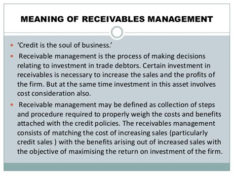 Accounts Receivable Mba Project Report by Mba Projects Receivable Management Pearsonhighered X Fc2