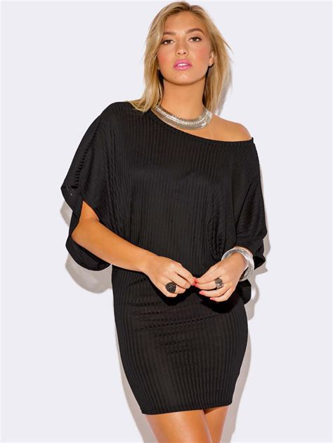 Sweater Club Vapor Clothing black kimono sleeve sweater dress modishonline