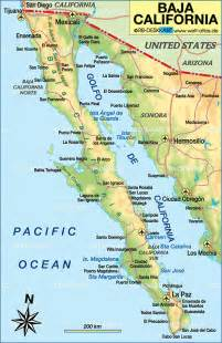 map of baja california mexico map in the atlas of the