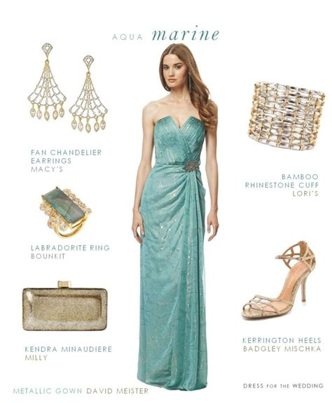 aquamarine evening gown gown for a black tie wedding