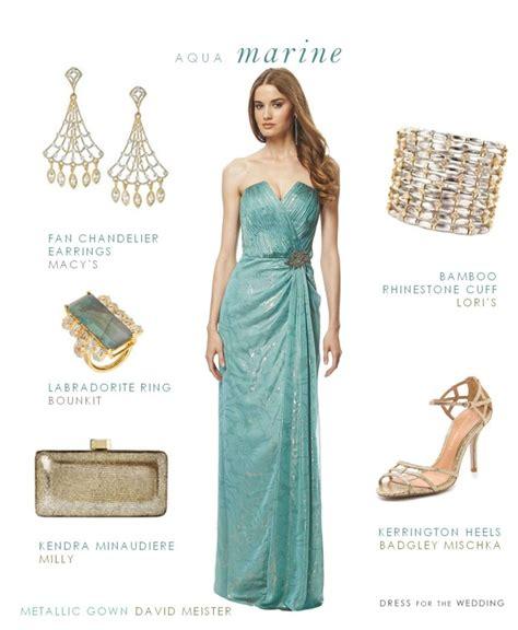 Dress Aquamarine aquamarine evening gown gown for a black tie wedding