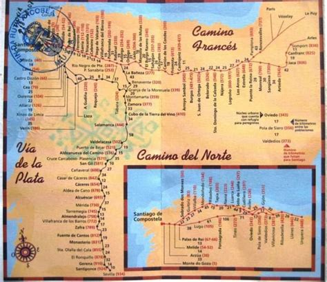camino way map 1000 images about walks distance thru hikes to
