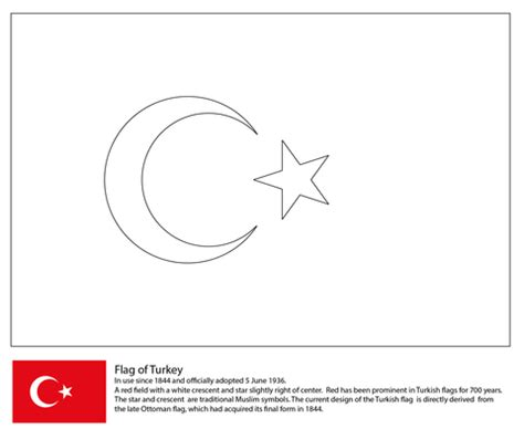 turkey map coloring page turkey flag coloring page