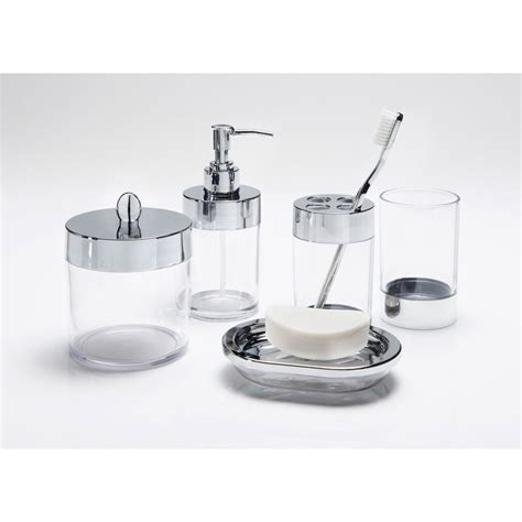 Bathroom Accessories Stores Bathroom Accessories Set 5pc Clear Bathroom B M