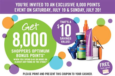 Redeem Shoppers Optimum Points For Gift Cards - shoppers drug mart earn 8000 bonus points when you spend 40 this weekend canadian