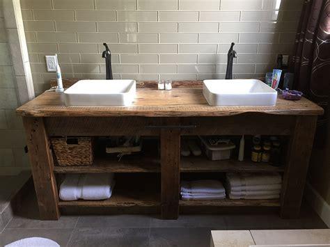 reclaimed bathroom vanity sensational reclaimed wood