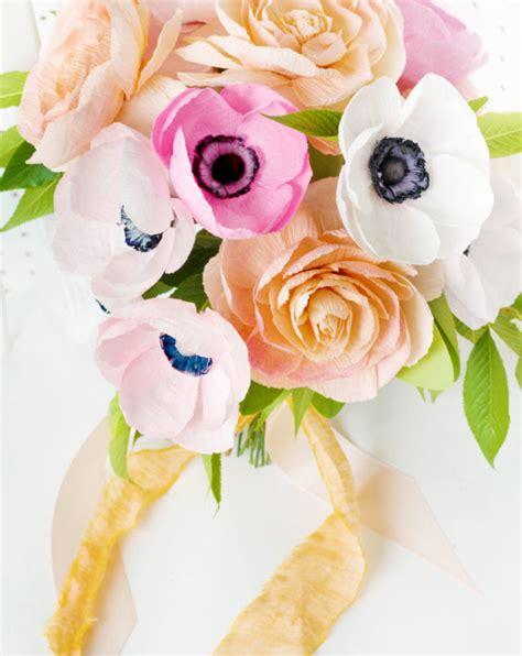 Cut Flowers Wedding Bouquet by Diy Paper Flower Wedding Bouquet