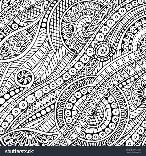 doodle tribal ethnic floral zentangle doodle background pattern stock