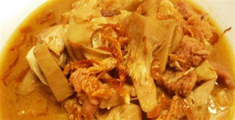 resep cara membuat masakan sayur dari bambu muda rebung resep masakan cara membuat sayur nangka