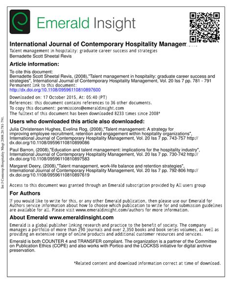 talent management research papers pdf pdf talent management in hospitality graduate career