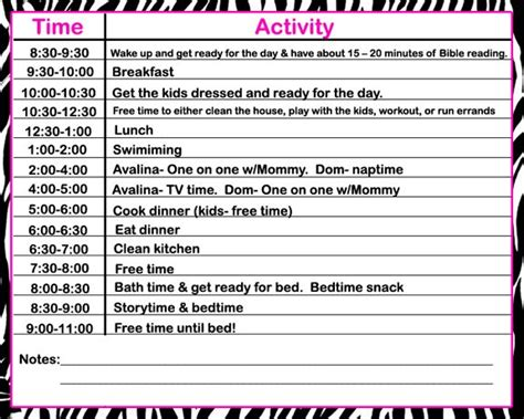 Daily Schedules For Stay At Home Moms And Found One From A Christian Stay At Home Mom Site And Stay Template