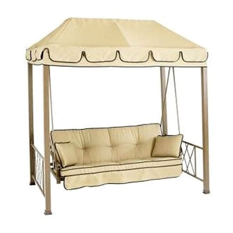 hton bay gazebo swing hton bay verrado folian gazebo style ptio swing