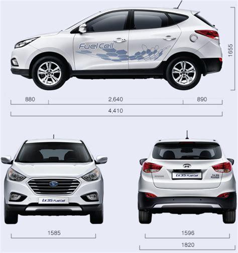 Hyundai Tucson Interior Dimensions tucson fuel cell specs hyundaihydrogen ca