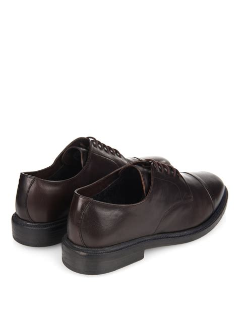 burberry shoes burberry prorsum redworths leather derby shoes in black