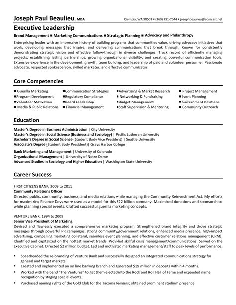 Resume For Executive Director by Non Profit Executive Director Resume Resume Ideas
