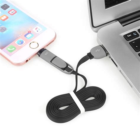 Android And Iphone Charger by 2 In 1 Usb Charging Cable Lightning Sync Micro Usb For