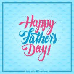 typographic happy fathers day card vector free