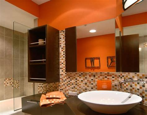 Modern House Orange Bathroom In Modern Designs Orange Bathroom Ideas