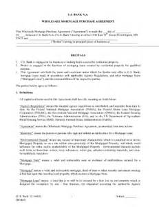 Wholesale Agreement Template Mortgage Agreement With Bank Pic Fill Online Printable