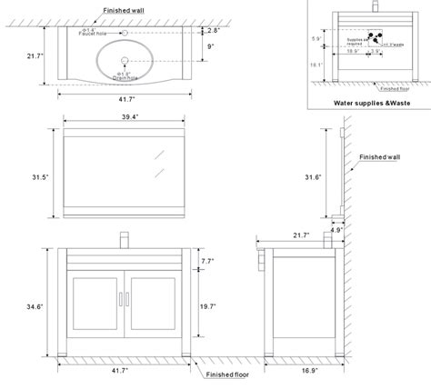 vanity dimensions for bathrooms bathroom vanity dimensions inspiration and design ideas