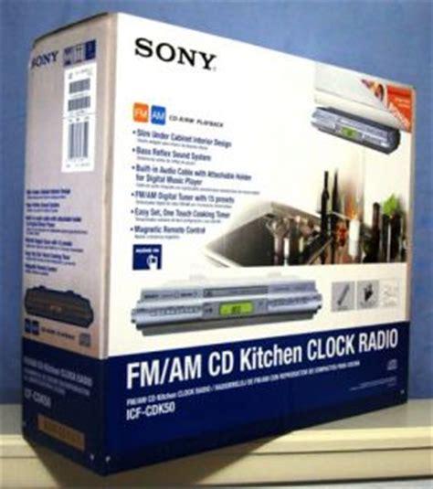 sony under cabinet kitchen icf cdk50 cd clock radio sony kitchen under cabinet clock radio cd ipod am fm icf