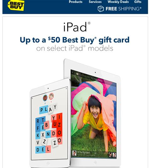 Best Gift Card To Buy - best buy now offering gift cards to move ipad inventory