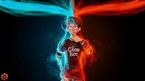 wallpaper keren  laptop luffy good boy