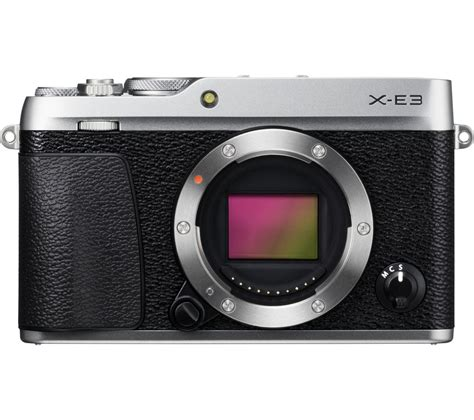 Fujifilm X E3 Black Kamera Mirrorless Kamera Fuji Limited buy fujifilm x e3 mirrorless silver only free delivery currys