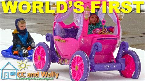 frozen power wheels sleigh disney princess carriage can it pull a sled in the snow