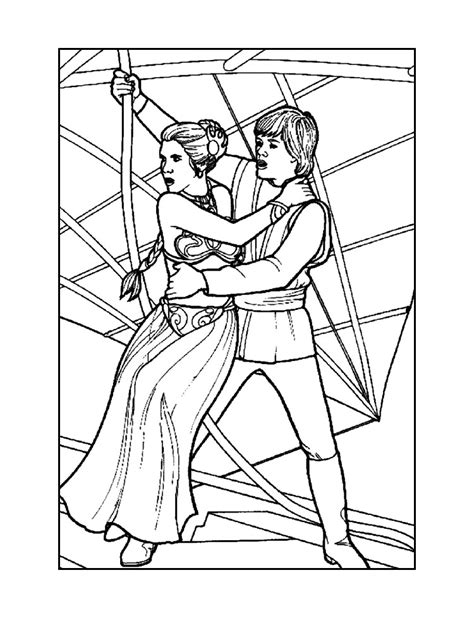 coloring pages princess leia star wars coloring pages free printable star wars