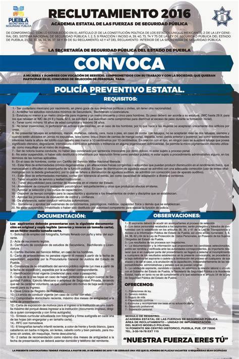 convocatoria policia federal ministerial 2016 abren convocatoria para la polic 237 a estatal preventiva e