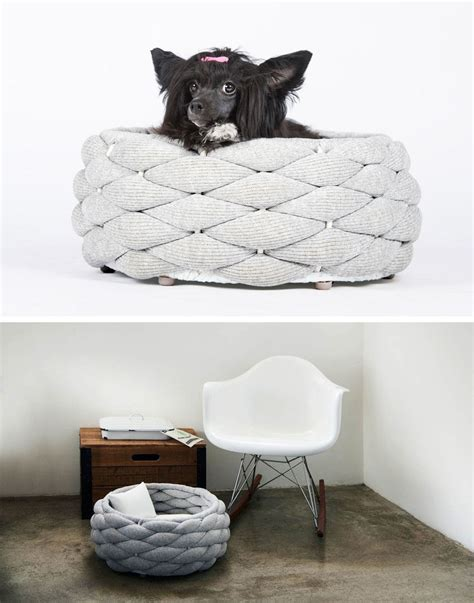 modern dog bed these woven pet beds give your fur friends a secure place