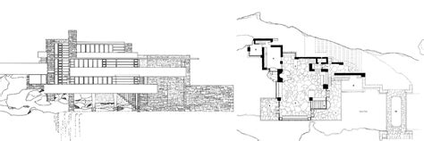 frank lloyd wright waterfall house plans falling water house plan escortsea