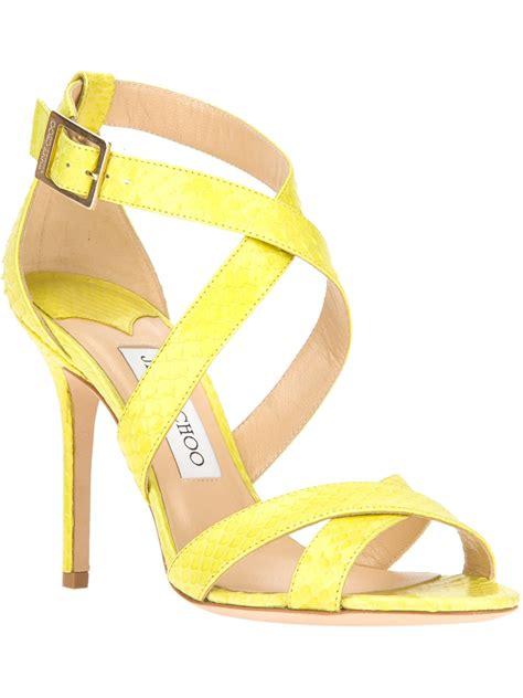 Jimmy Choo Kelis Sandal by Lyst Jimmy Choo Lottie Sandal In Yellow