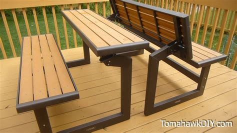 bench folds into picnic table folding picnic table bench plans