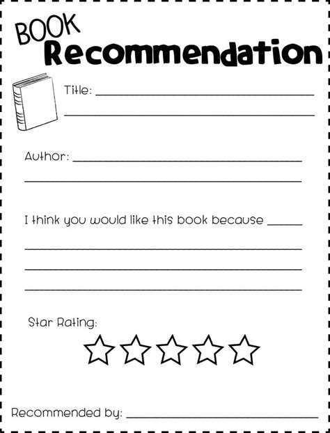 Book Recommendation Card Template by 1338 Best 2nd Grade Images On Teaching