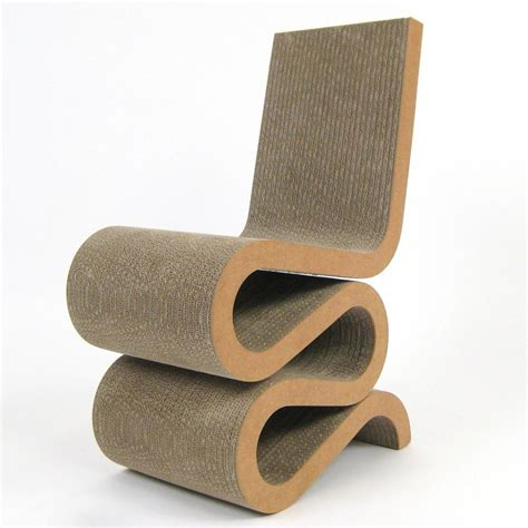 plans to build frank gehry cardboard furniture wiggle