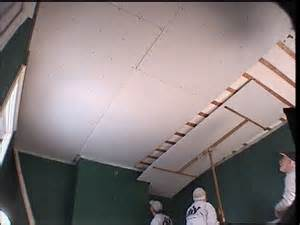 replace ceiling drywall 301 moved permanently