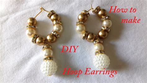 diy how to make hoop ring earrings at home