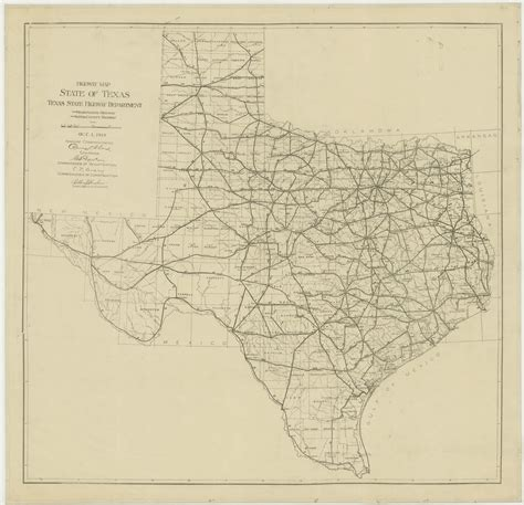 texas state road map route 66
