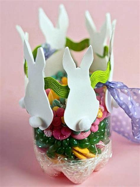 Easter Handmade Crafts - 10 easy easter bunny crafts and handmade table decoration