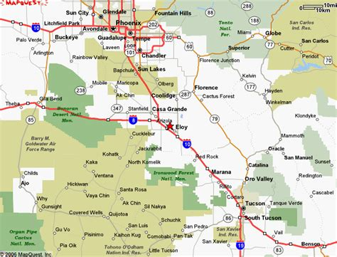 arizona map with cities altitudes of cities in arizona images