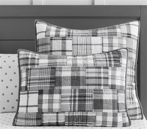 madras quilt gray pottery barn